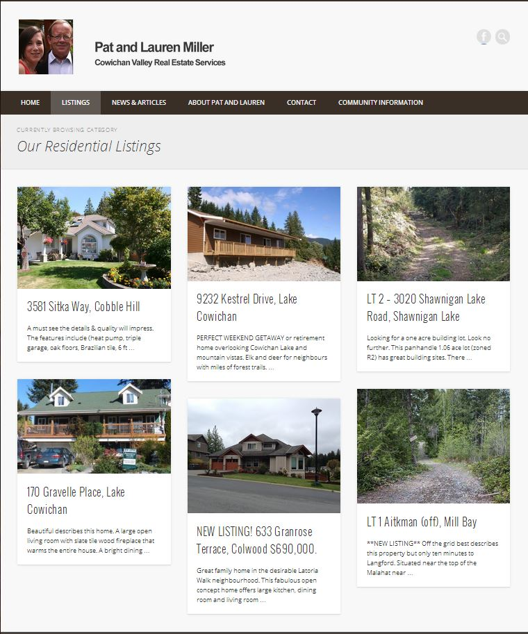 patrickmiller.ca homes for sale page