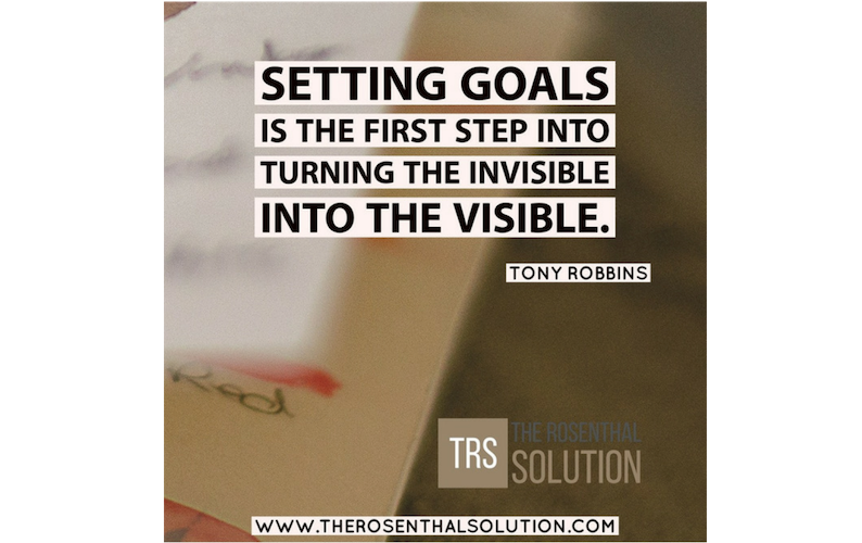 Setting Goals – Thursday's Thought of the day